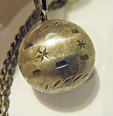 """Nice Vtg Sterling Silver Mexico Taxco 1"""" Bell Chime Harmony Angel Caller Pendant"""
