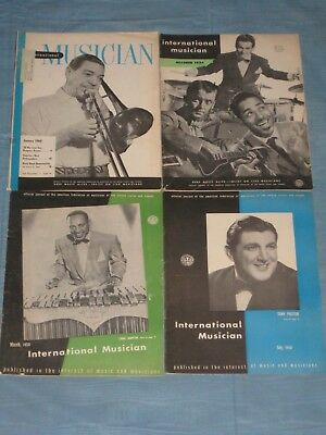 1950's Lot Of 4 Issues Of The International Musician Magazine