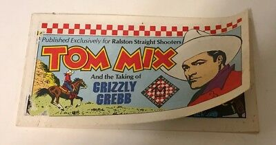 Vintage 1982 Tom Mix Taking Grizzly Grebb Mini Comic Book Ralston Giveaway Promo