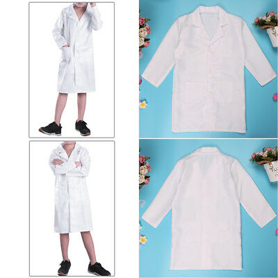 Kid Doctor Scientist White Lab Coat Medical Nurse Hospital Uniform Party Costume