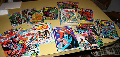 MIXED LOT of 77 BRONZE AGE Comics Warlord Jonah Hex Conan Indiana Jones Mystery