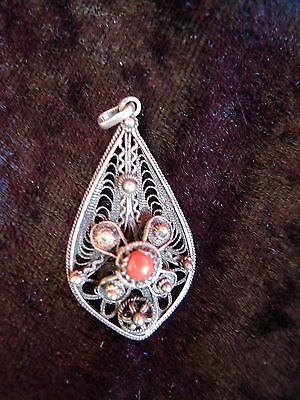 Beautiful, Ancient Pendants__Silver__ with Coral __ Pendant
