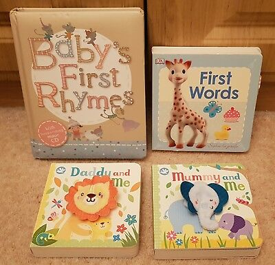 Baby Book Bundle Includes Sophie La Giraffe First Words, M&S Nursery Rhymes CD