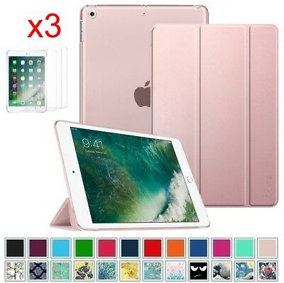 """For iPad 9.7"""" 6th Gen 2018 Translucent Frosted Case Cover w/Screen Protectors"""