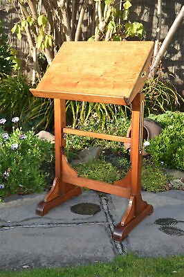 Antique Victorian adjustable reading stand lecturn metamorphic table