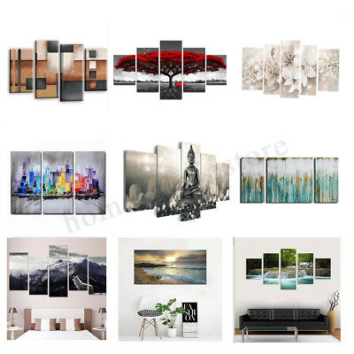 3 4 5 Panel Modern Abstract Home Hotel Wall Decor Art Gift Spray Canvas Painting