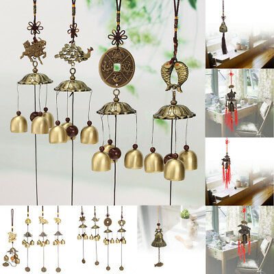 Retro Chinese Bells Lucky Feng Shui Hanging Wind Chime Yard Garden Outdoor