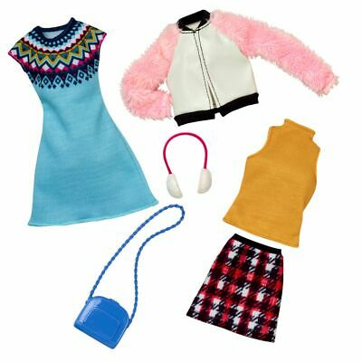 Winter | 2 Garderoben Set | Barbie | Mattel FKT39 | Puppen-Kleidung