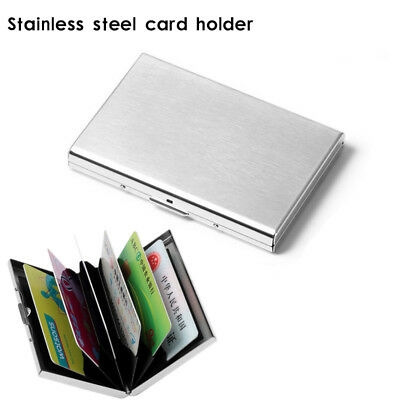 RFID Blocking Wallet Slim Secure Stainless Steel Contactless Card Protector New