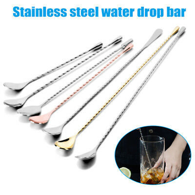 Long Handle Mixing Spoon Stainless Steel Bar Cocktail Spoon Twisted Handle