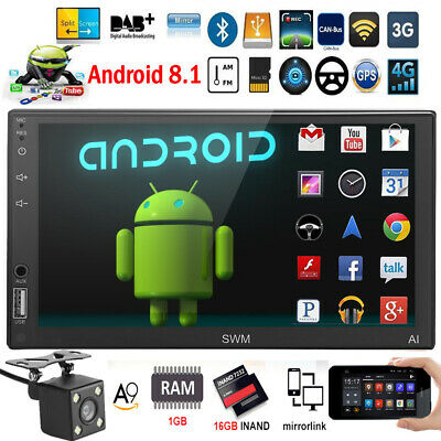 SWM A1 2DIN Android 8.1 Car Stereo MP5 Player BT GPS WiFi FM AM Radio+fotocamera