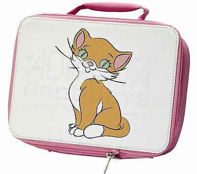 Cat Design Insulated Pink School Lunch Box Bag, CD-1LBP
