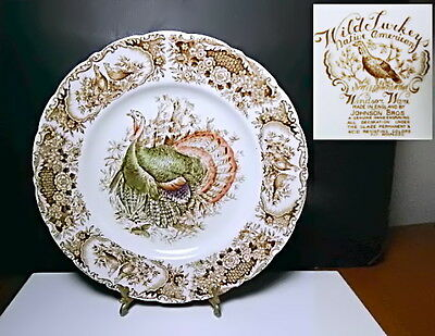 Johnson Brothers WILD TURKEYS Dinner Plate(s), England, Great Condition!!
