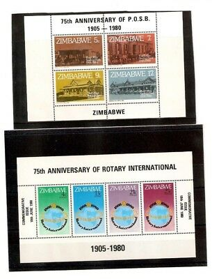 Zimbabwe M/sheets X 2 Issued In 1980 Mnh