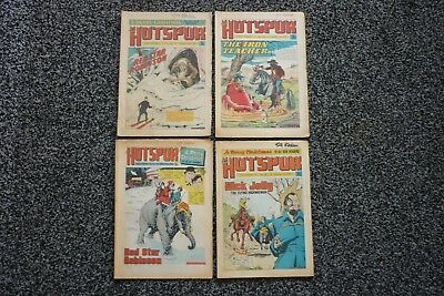 4 Hotspur Comics.1971,1972,1973,1974.Christmas Issues.