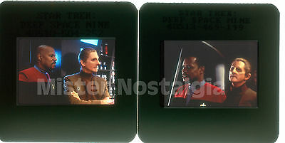 VINTAGE PHOTOS LOT 1995 STAR TREK DEEP SPACE 9 35mm slides Avery Brooks Rene