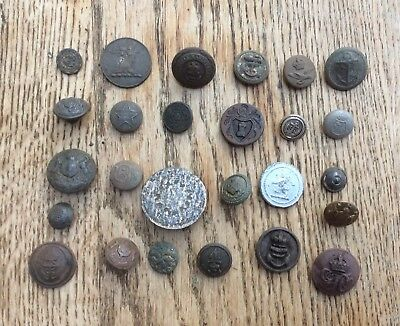A Selection Of Buttons, Mostly Metal Detecting Finds