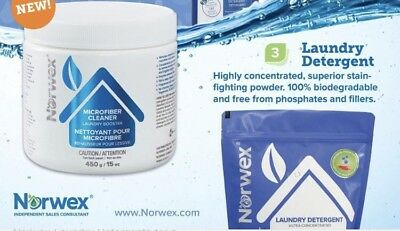 Norwex UPP Laundry Detergent And Microfiber Laundry Booster Set Ultra Power Plus