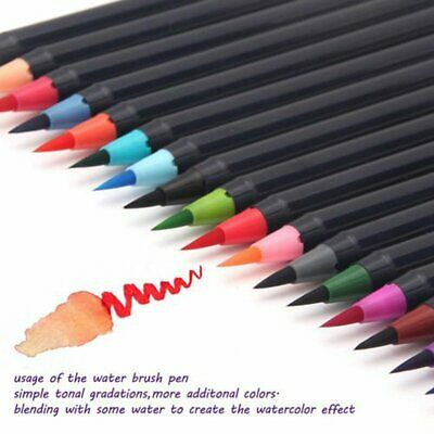 Aquarellpinsel Brush Pen Marker Art Soft Brush Art Sketch Coloring Craft 24er +1