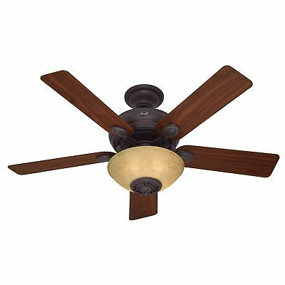 "Hunter Westover 52"" Indoor Ceiling Fan with Heater - 5 Reversible Blades, Light"