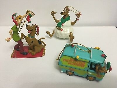 Vintage Hanna-Barbera Scooby Doo Lot Sleigh Mystery Snow Christmas Ornaments