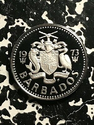1973 Barbados 25 Cents Lot#X9751 Proof!