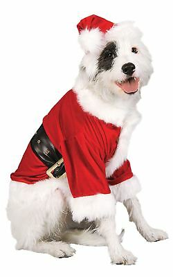 Santa Dog Costume Father Christmas Pet Fancy Dress Outfit