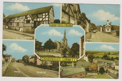 Worcestershire postcard - Greetings from Chaddesley Corbett - P/U (A145)