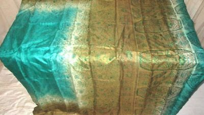 Pck Green Henna Pure Silk 4 yard Vintage Sari Saree Designs Fast Selling #9BZUU