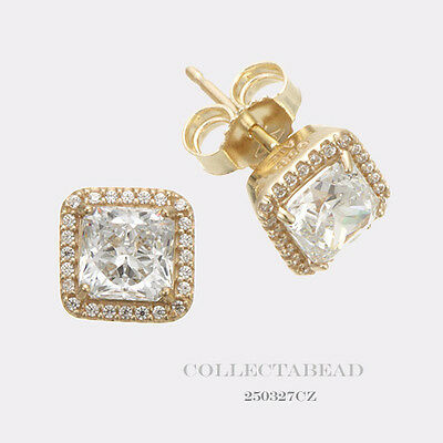f7cfa9754 Authentic Pandora 14K Gold Timeless Elegance with Clear CZ Earrings 250327CZ