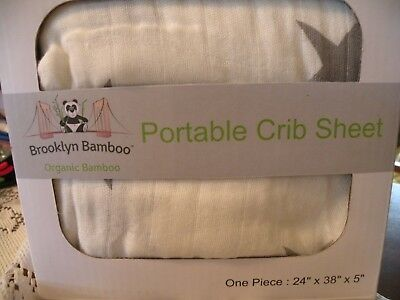 PORTABLE Fitted Crib Sheet pack and play crib sheet