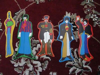 Beatles VINTAGE SET OF FIVE 1968 'YELLOW SUBMARINE' BOOKMARKS !