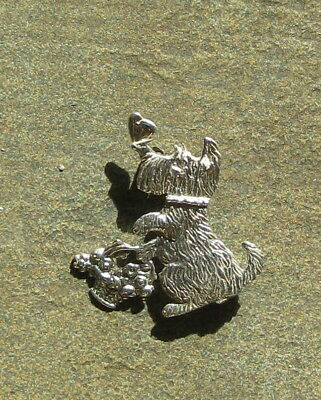 Sterling Silver Scottie Dog Pin by Mary Engelbreit