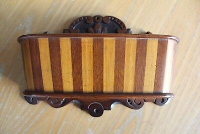 Vintage Wooden Treen Staved Candle Box, Probably Scottish