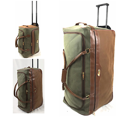 Large Faux Suede Lightweight Luggage L, M, S Wheeled Holdall Trolley Case Bag