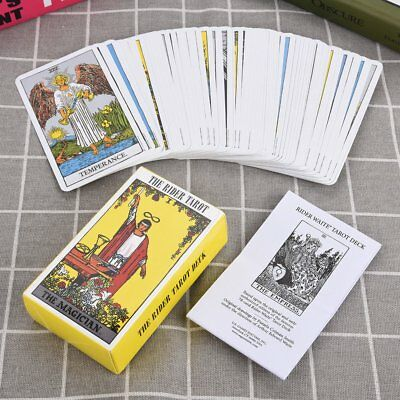 78pcs Set Rider Waite Tarot Deck Beginners Enthusiasts Kids Gift Games Cards