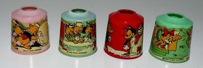 "DISNEY 1930's NOMA ""SILLY SYMPHONIES"" CHRISTMAS LIGHT ""DECALED"" COVER SET OF 4"