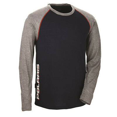 OEM Polaris Mens Fitted Moist Wicking Mid Layer Tech Long Sleeve Pullover