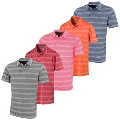f5405bcdd4 Puma Golf Mens Essential Pounce Stripe DryCell Polo Shirt 45% OFF
