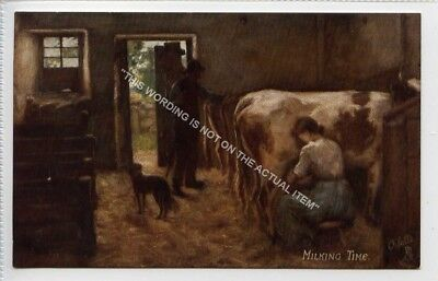 (Lf4261-495) Milking Time, Unused G-VG,  SCOTTISH LIFE AND CHARACTER