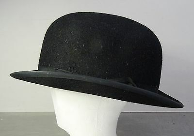 vintage english Bowler hat - Ältere Englische Melone Lock & Co. Hatters - Gr. 62