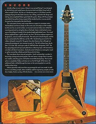 The 1957-58 Gibson Flying V classic vintage guitar 1996 full page article print