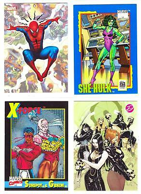 MARVEL COMICS PROMO CARDS--Lot of 16 Mixed Promo Cards^