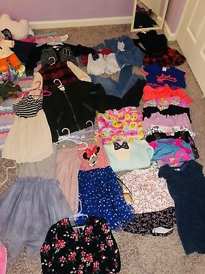 Huge 40 Piece LOT GIRLS SZ 5/6 7/8 Disney Princess Gap Old Navy Justice Boutique