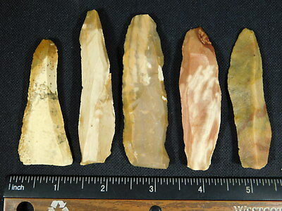 Lot of BIG 9,000 to 4,000 Year Old Lithic Artifacts Bir Gandus Morocco 74.4gr e