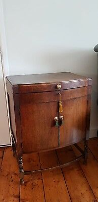 Vintage Bow Fronted  Cutlery Cabinet Cupboard