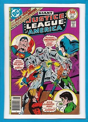 Justice League Of America #142_May 1977_Very Fine_Batman_Bronze Age Giant!