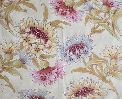 NEW STOCK LOVELY LATE 19th CENTURY FRENCH LINEN COTTON, CORNFLOWERS 27.