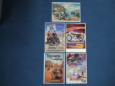 Classic bike postcards Triumph, Royal Enfield, Ariel and Matchless
