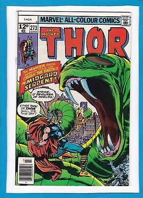 "Mighty Thor #273_July 1978_Near Mint Minus_""the Midgard Serpent""_Bronze Age Uk!"